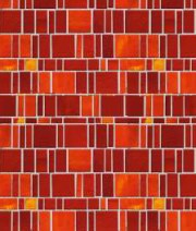 Red tiled Door Mosiac
