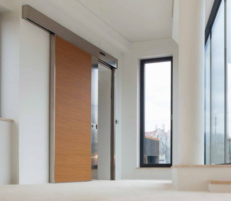 DDA Sliding Security Door in wood
