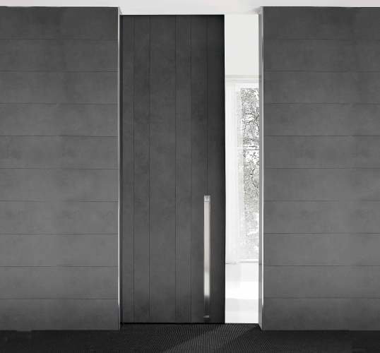 black contemporary sliding door