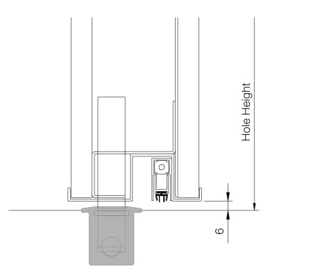 Flush Steel Security Door on Pivot Hinge