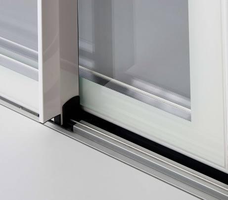 Sliding Door runner on Glass-to-edge fenestration