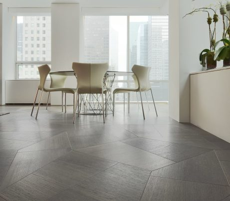 Museum Tower NYC with Listone Giordano Slide Geometric Wooden Flooring