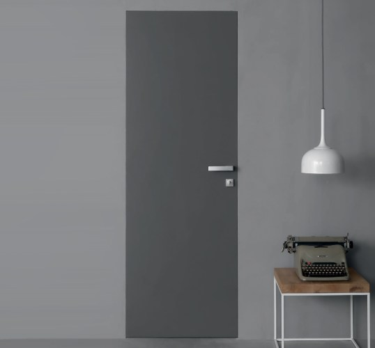 Flush grey interior Fire Door