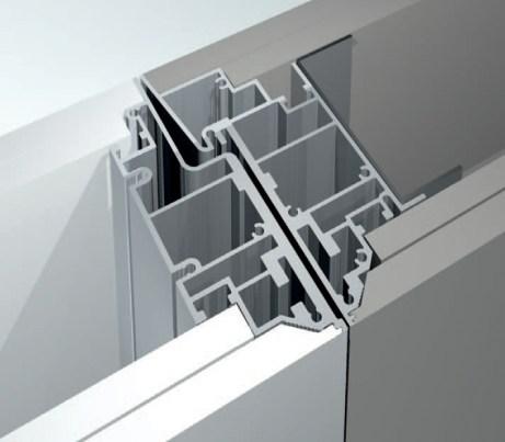 Coplanar framing details Door flush both sides