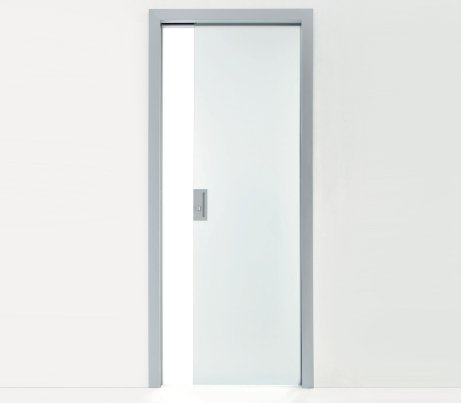 Pocket Door in glass with Architrave