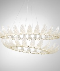 Chandelier with Petal Art-glass