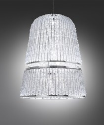 Large scale Architectural Chandelier by ITALAMP