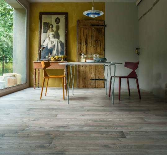 Grey Rustic Wooden Flooring