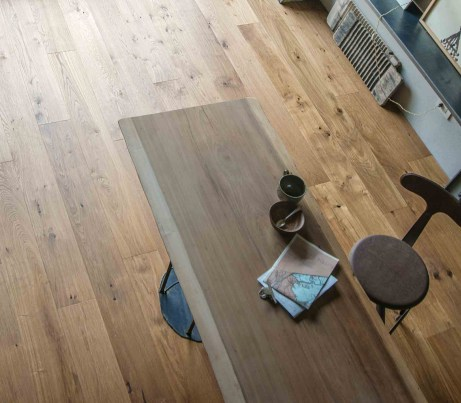 Rustic Wooden Strip Flooring