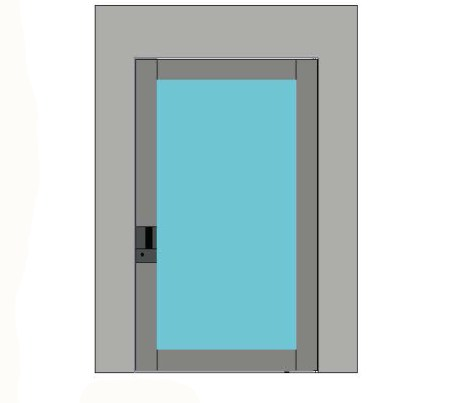 Bluebell Nova Glass Pivot Door Single Door
