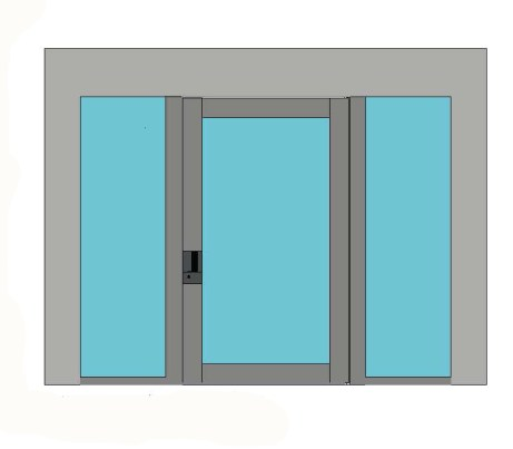 Bluebell Products Nova Glass Pivot Door Double Sidelight