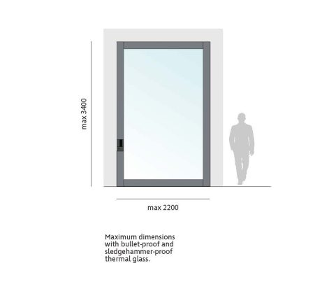 Bluebell Nova Glass Pivot Door Thermal Safety Glass