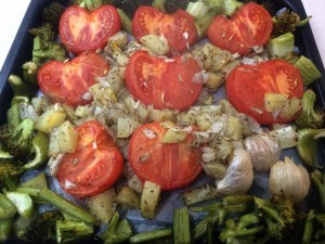 10. Admire the lovely roasted vegetables