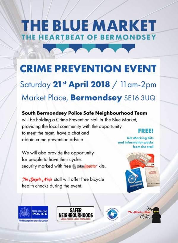 South Bermondsey Police Safe Neighbourhood Crime Prevention Event