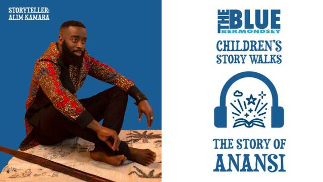 Blue Bermondsey Children's story Walks: Anansi Low res