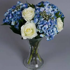 Artificial Blue Hydrangea silk flowers