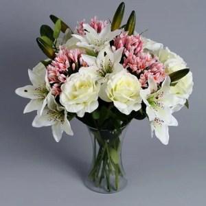 Pink Agapanthus silk flowers 2