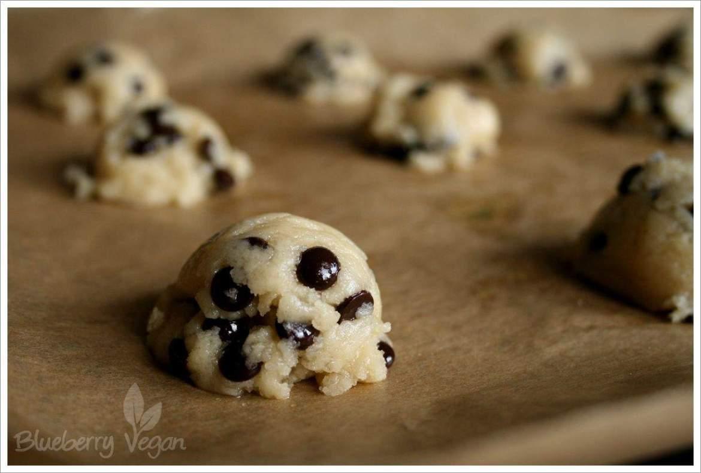 Chocolate Chip Cookies vorm Backen