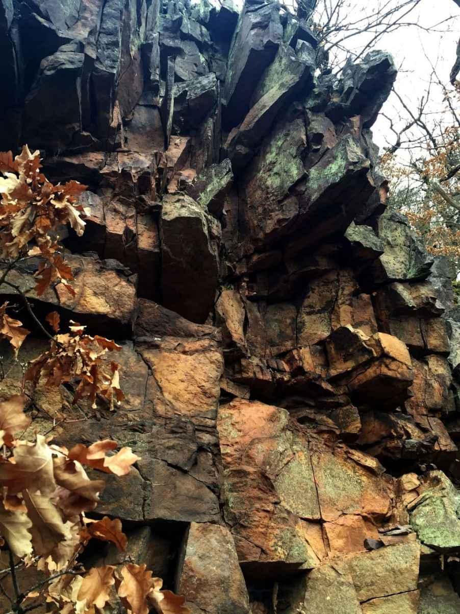 Der Fels rostet