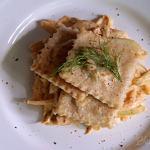 Pasta Squares with Fennel and Chili Cashew Cream