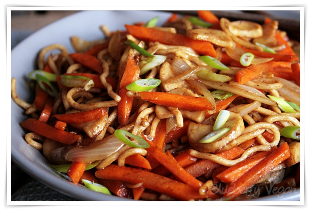 Chinese fried noodles as from your favorite take out blueberry vegan for Garden fresh chinese vegan cuisine