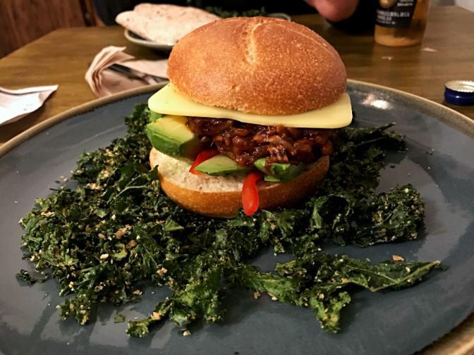 Jackfruit Burger at Vegan Hippo