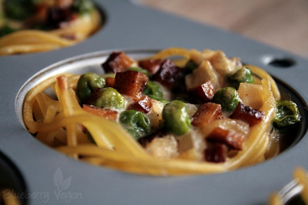 tasty spaghetti muffins la carbonara blueberry vegan. Black Bedroom Furniture Sets. Home Design Ideas