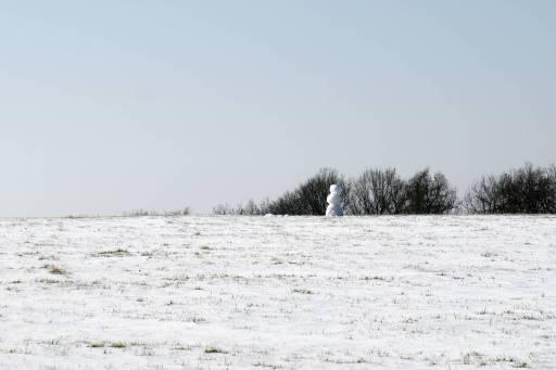 einsamer Schneemann