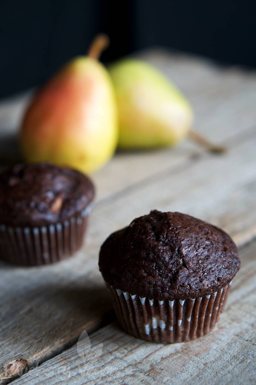 Saftige Schoko-Birnen-Muffins