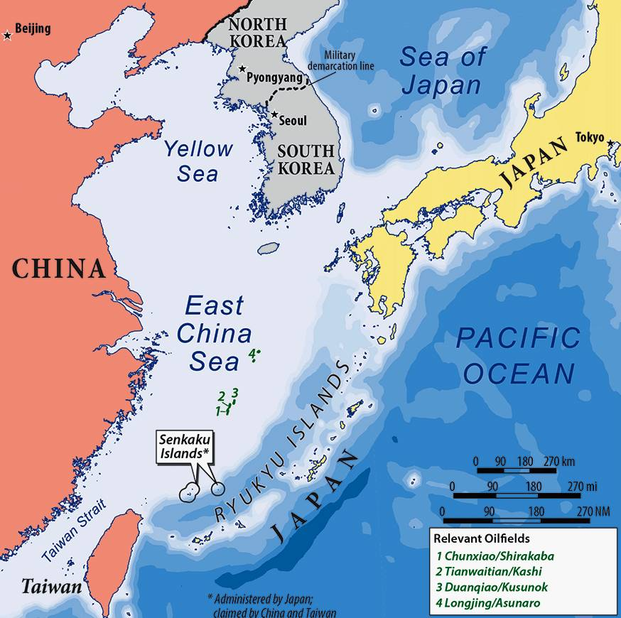 Risultati immagini per east china sea map