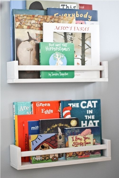 DIY Childrens Book Case Pinterest Project BluebirdKisses