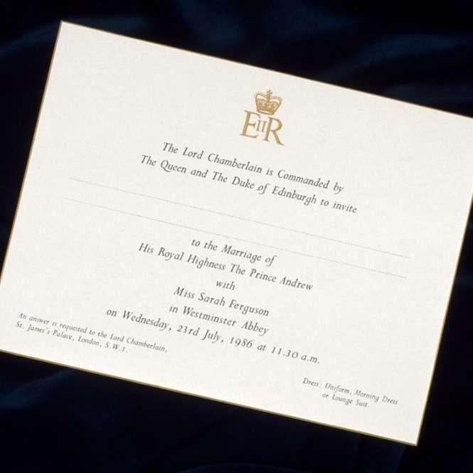 Prince Harry Meghan Markle S Royal Wedding Invitations
