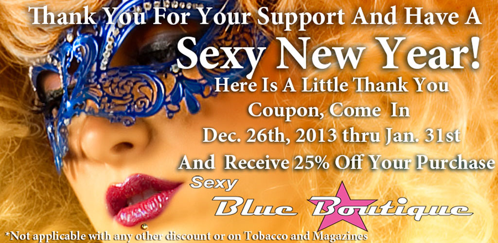 Sexy Year End Coupon (25% Off All Products)