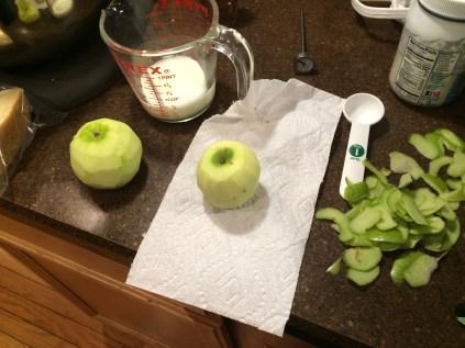 Peel the apples