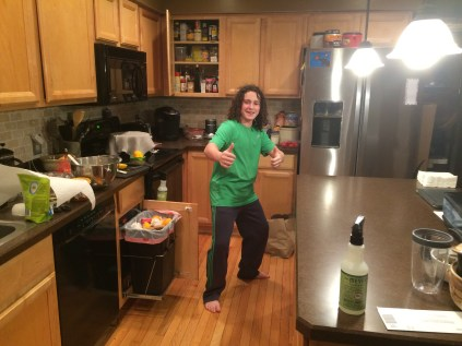In the kitchen with Sawyer!