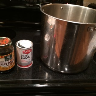 I added some barley malt to the pot