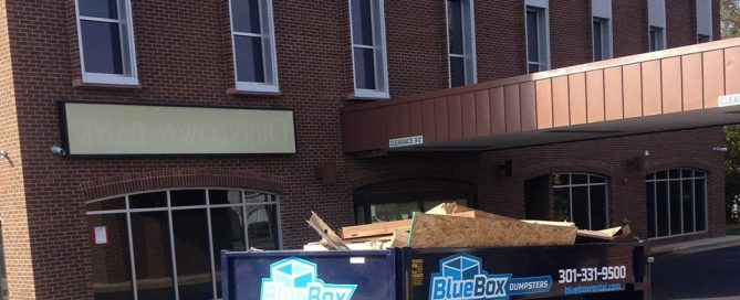 Rental Dumpster at Renovation project in Hagerstown, MD in Washington County, MD