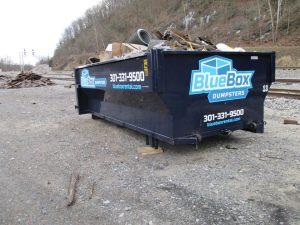 Dumpster full of trash in Hancock, MD