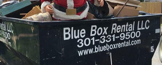 Hagerstown Dumpster Rental Company finds Santa in rental dumpster