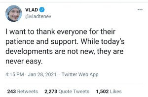 Vlad Tenev Ratio