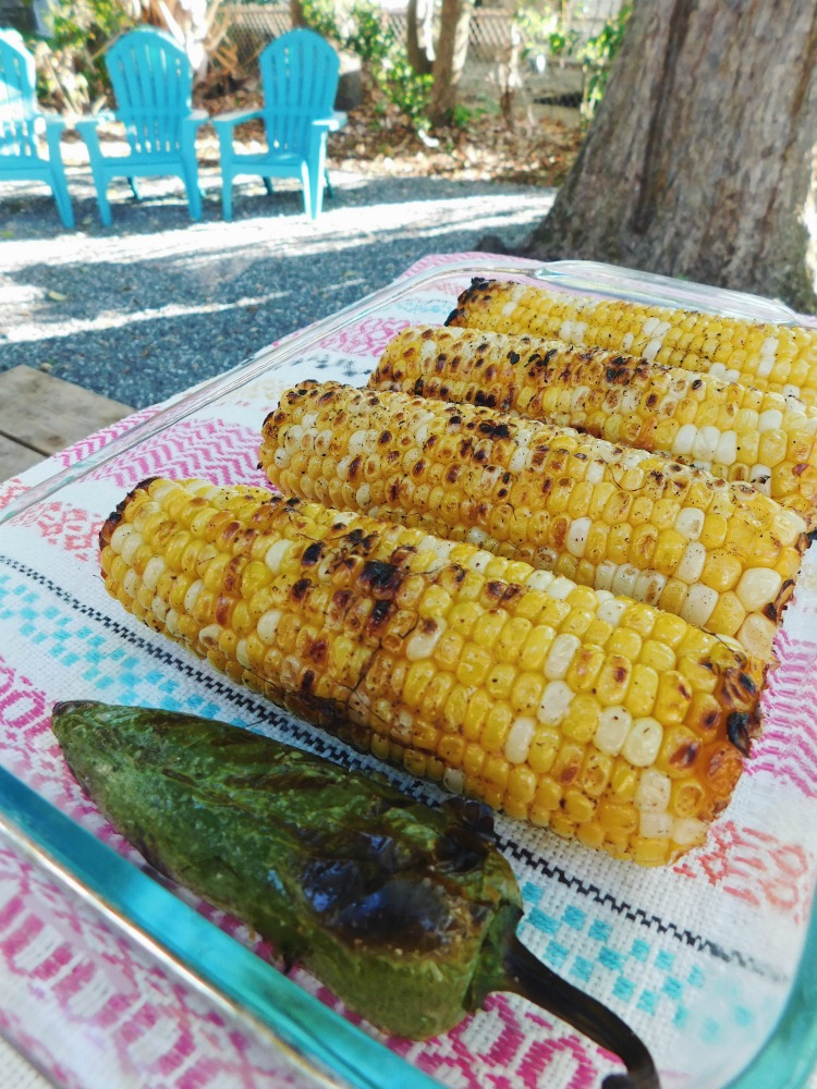 Grilled Corn and Jalapeno for Summer Corn Salad