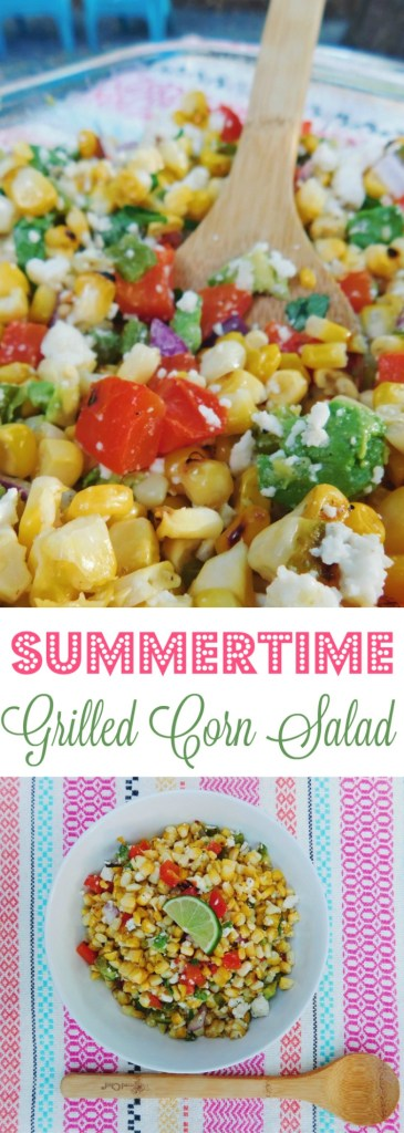 This Grilled Summer Corn Salad is a fun Mexican twist on an American BBQ Classic!