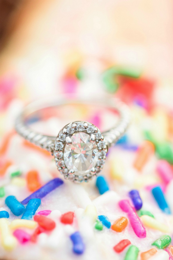 Oval Cut Diamond Engagement Ring with Halo | Photo Credit: The Veil Wedding Photography