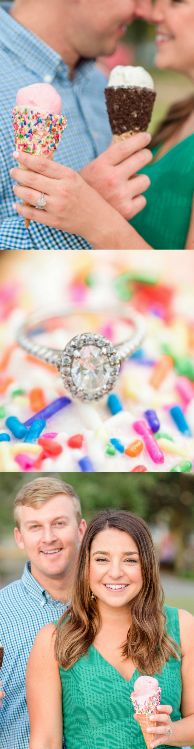 Ice Cream Date Night Inspired Engagement Session | Photo Credit: The Veil Wedding Photography