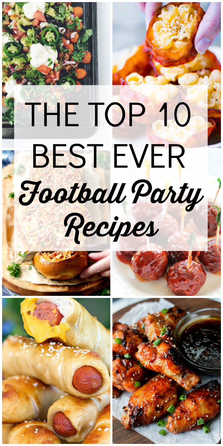 These top ten football recipes will take any party or tailgate to the next level!