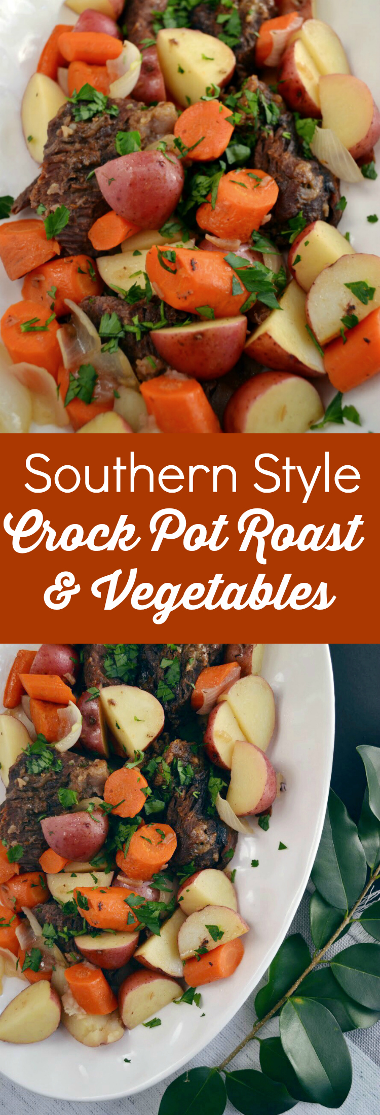 Crock Pot Roast and Vegetables – over 5 hours in the slow cooker makes this pot roast tender and super flavorful. Serve over rice for a classic Southern supper!