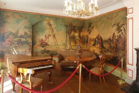 Innenansicht vom Blüchermuseum in Kaub am Rhein