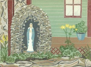 Linoleum Block Relief Print for Sale - St. Elie de Caxton, Quebec