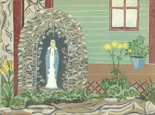 Linoleum Block Relief Print for Sale - St. Elie de Caxton, Quebec