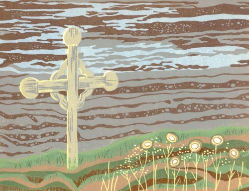 Linoleum Block Relief Art Print For Sale - Cap Chat, Gaspé Peninsula, Quebec